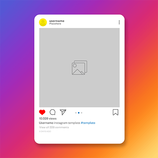 Social Media Blog Instagram Bildanzeige