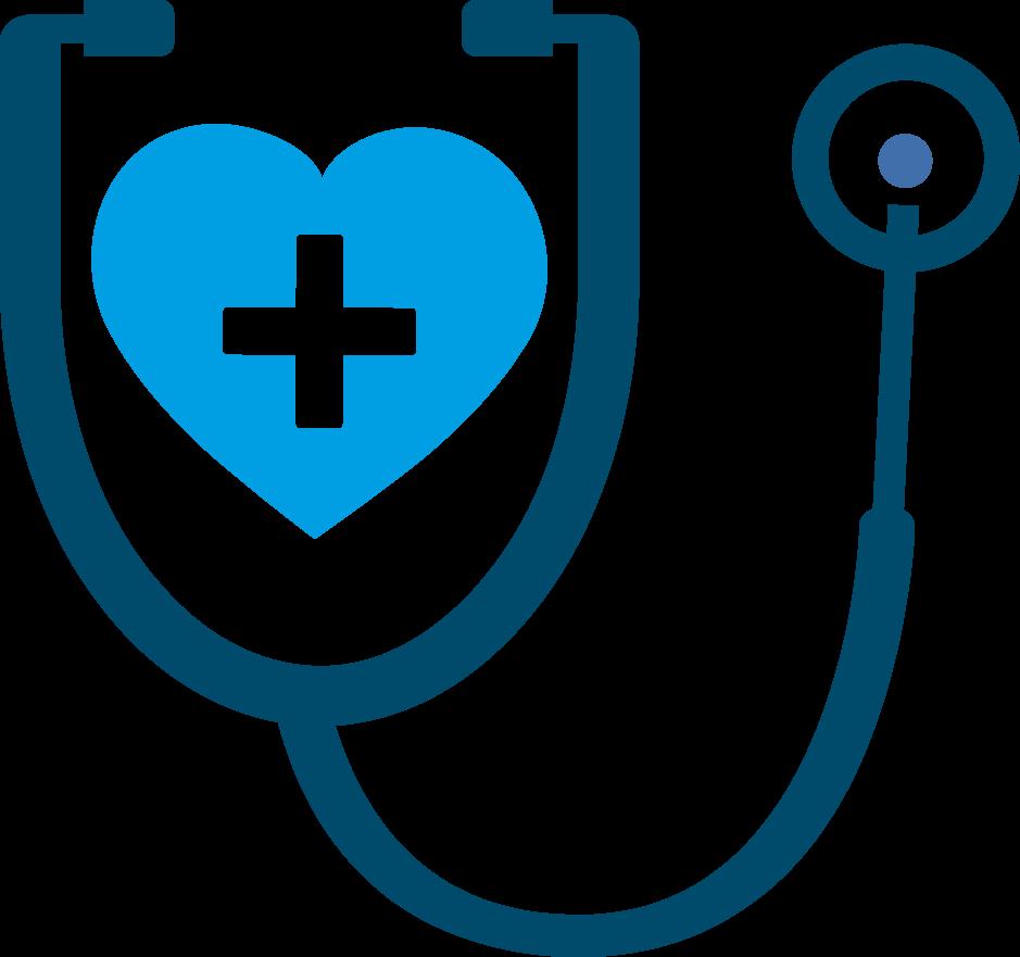 Stetoskop blauen Herz persoperm