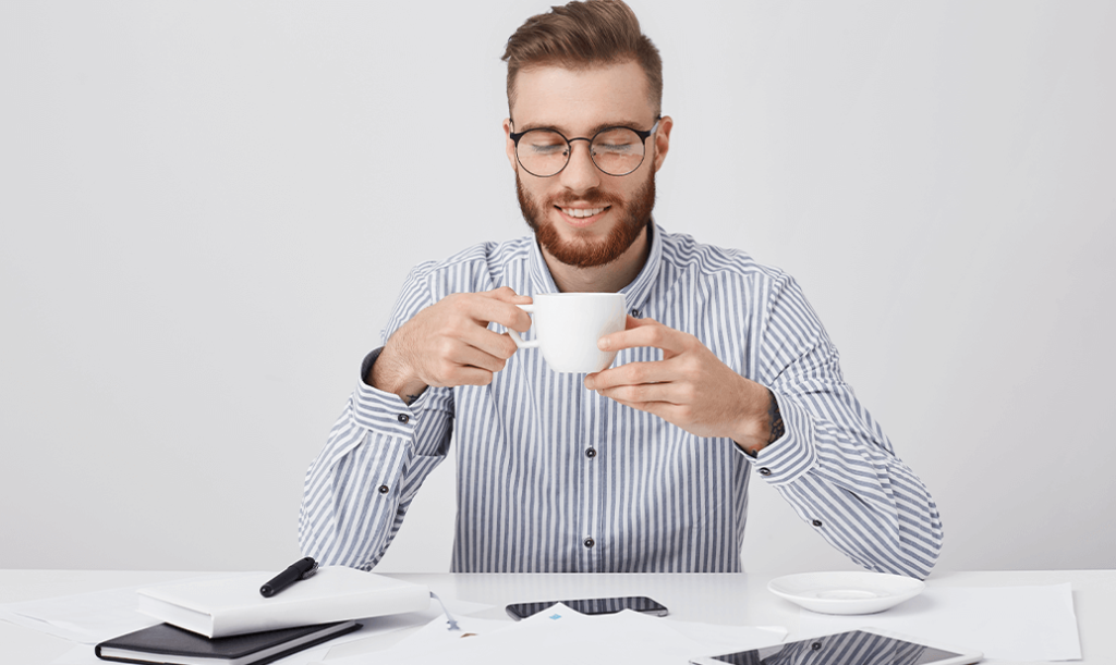 2020-12-01 Remote-Work Erfahrungsbericht - Pause Kaffee
