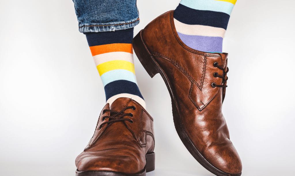 Blog Bewerbungssituation - Bunte Socken